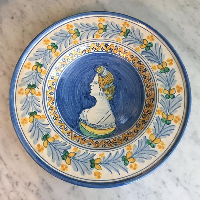 Large Round Sicilian Ceramic Bowl