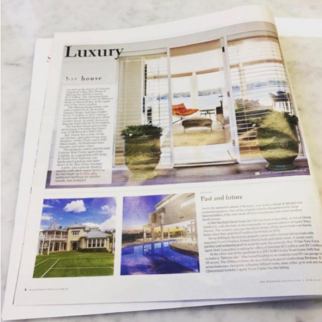 Bay House Featured in The Australian