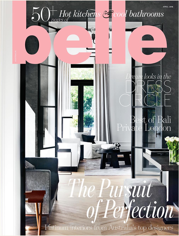 Belle Magazine Kitchen Bathrooms April Issue 2018